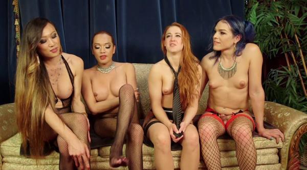 Kink: Jessica Fox, Cheyenne Jewel, Kelli Lox, Venus Lux - Cheyenne Jewels first TS gang bang!! (HD) - 2019