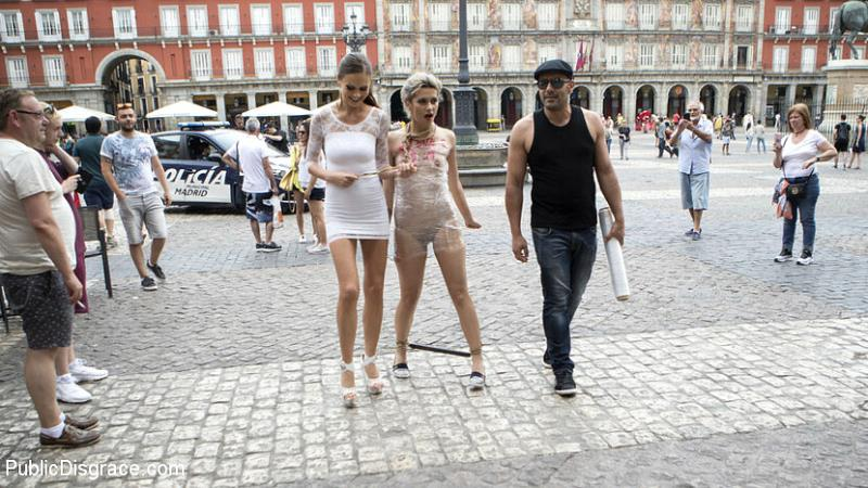 [KINK] - Tina Kay, Yunno X, Steve Holmes, Antonio Ross - Attention Whore Yunno X Humilated, Punished, and Gang Fucked in Public (2019 / HD 720p)