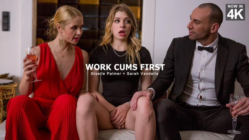 Giselle Palmer, Sarah Vandella - Work Cums First (Babes) [FullHD 1080p]