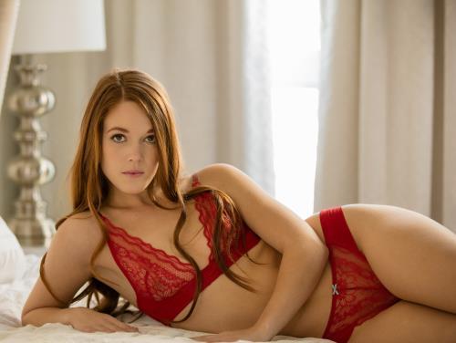 Kimberly Brix - Sexy Teen Redhead Tries Double Penetration