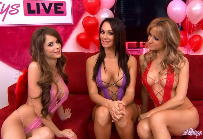 Twistys.com - Emily Addison, Destiny Dixon, Angela Sommers - Twistys Live 18 [2013 HD] (Pornstars, Live Show, Lesbians)