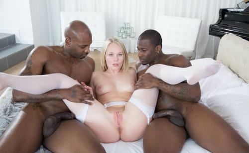 Dakota James - Beautiful Blonde Screams With 2 Big Black Cocks!
