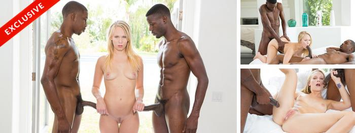 Dakota James - Two BBC And A Pretty Blonde Teen (FullHD 1080p) - Blacked - [2019]