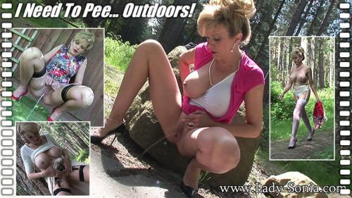 Lady Sonia - I need to pee outdoors (HD)