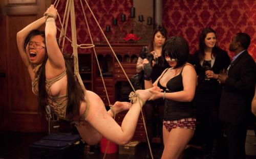 Isis Love, Krysta Kaos, Sparky Sin Claire, Skin Diamond - Gorgeous slave ash is given a birthday beating while slave sin is used by Isis Love (1.89 GB)
