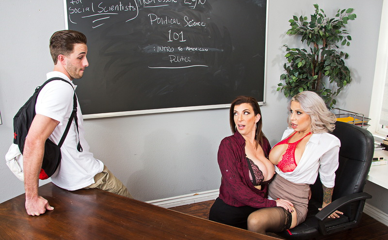 Alyssa Lynn, Sara Jay - My First Sex Teacher (NaughtyAmerica) [SD 360p]