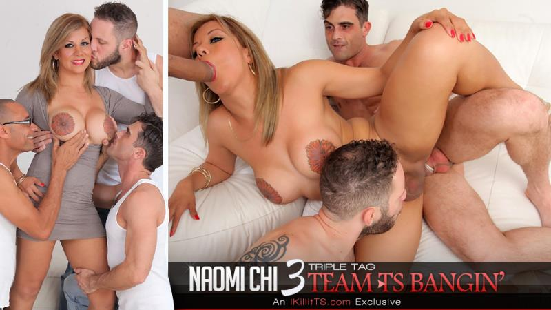 Trans500: Triple Tag Team TS Bangin - Naomi Chi [2018] (HD 720p)