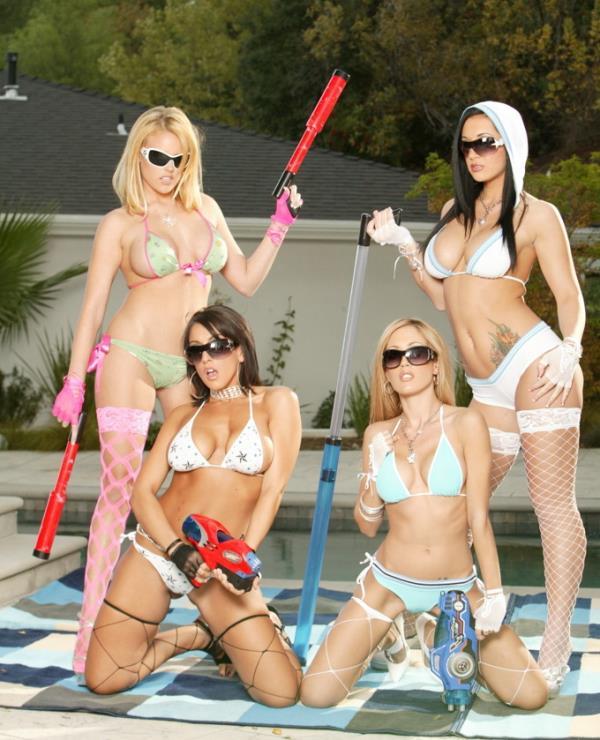 Capri Cavalli, Codi Carmichael, Jayden Jaymes,Ricki White - Summer Time Orgy Pool Party [FullHD 1080p] 2019