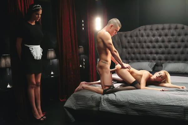 PorndoePremium.com - Katy Rose - Katy Rose Czech Katy Rose enjoys sensual fuck in the hotel while the maid watches [SD 480p]