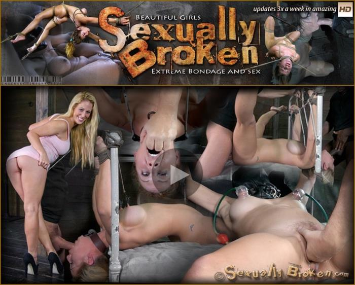 Amber Rayne, Matt Williams, Jack Hammer - Cherie DeVille takes on two cock for the first time ever! Deep throated, bound and fucked! (HD 720p) - SexuallyBroken - [2019]