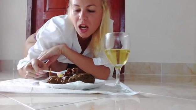 MissAnja - Plate Of Huge Shit, Glass of Drink, Dessert (HD 720p)