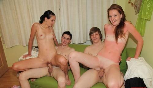 Mika, Alena, John, Victor - Wine and group sex party (538 MB)