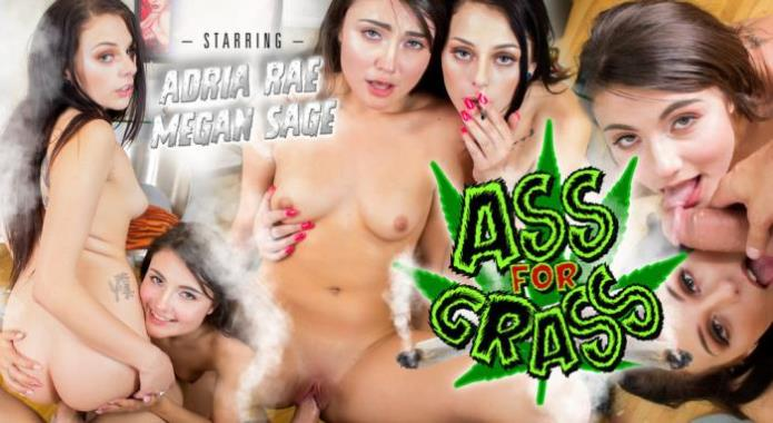 Ass For Grass / Adria Rae, Megan Sage / 15-04-2019 [3D/HD/960p/MP4/3.65 GB] by XnotX