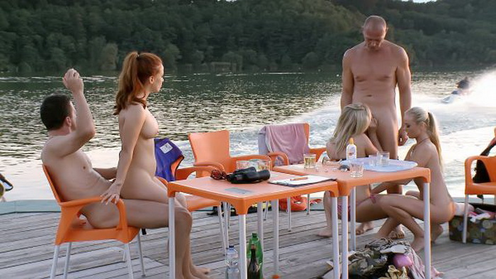 Fuckinggamble: Flavia, Massimo, Bob Terminator, Max Payne, Geena Gain, Sunny Diamond Love and Watercraft [HD 854p]