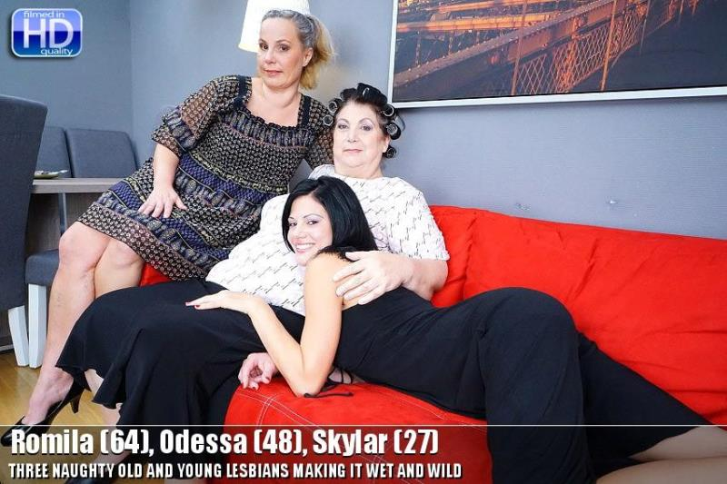 [Old-and-Young-Lesbians/Mature.nl] - Romila, Odessa, Skylar - Lesbian (2019 / HD 720p)