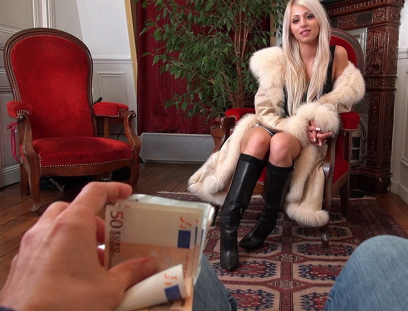 PublicPickUps/Mofos: Chloe Lacourt Smokin French Blonde Flashes Tits [SD 480p]