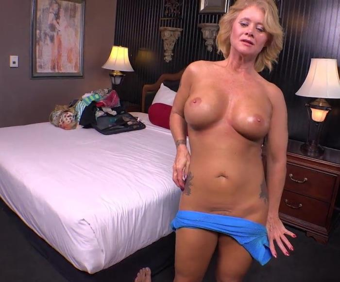 MomPov.com - Bambi - CASTING [2019 SD] (MILF, Blonde, Big Tits, Hairy Pussy, Tattoo, POV, Hardcore, Oral, Titty Fuck, Ball Licking, Oil, Anal, Cum On Face)