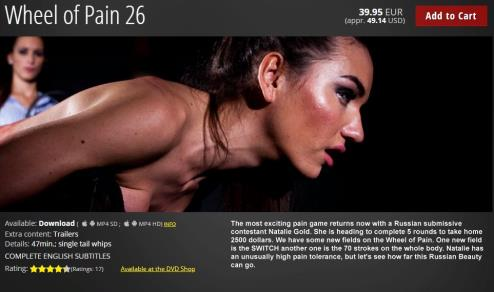 Wheel of Pain 26 / Natalie Gold / 15-05-2019 [HD/720p/MP4/1.39 GB] by XnotX