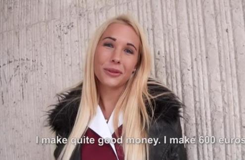 Kyra Hot - Blonde Amateur Fucks in Stockings (PublicPickUps.com, Mofos.com/720p/HD)