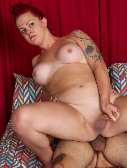 Grooby - Peyton and guy - Peyton Gets A Creampie [2019 FullHD] (Shemale, transsexual, bbw, hardcore, bareback, male on shemale, oral, anal, rimming)