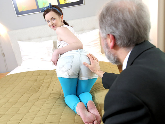 OldGoesYoung.com - Lenka - Lenka discovers the wonderful world of old goes young sex [2019 HD] (Facial, Old, Young, All Sex)