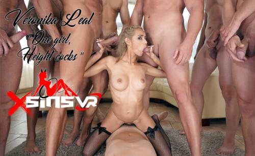 Veronika Leal - One Girl, Eight Cocks (20.06.2019/SinsVR/3D/VR/UltraHD 2K/1920p)