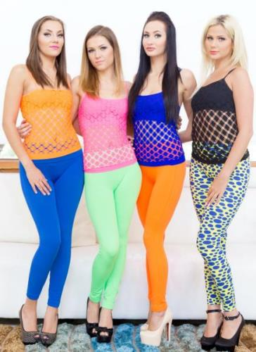 Lara Onyx, Maria Devine, Ginger Fox, Katie Montana - Interracial reverse gangbang 1on4 SOS197 (SD)