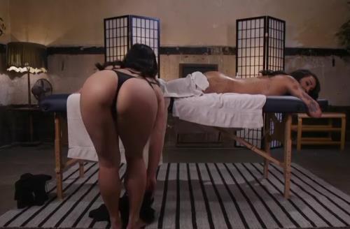 Mia Li , Honey FoXXX - ERotic Nuru Massage on a hot TS with HUGE COCK (HD)