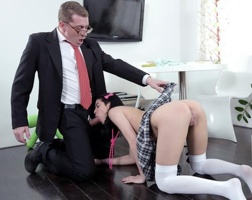 Jody - Jody fucked hardcore by her tricky old teacher after class (HD)