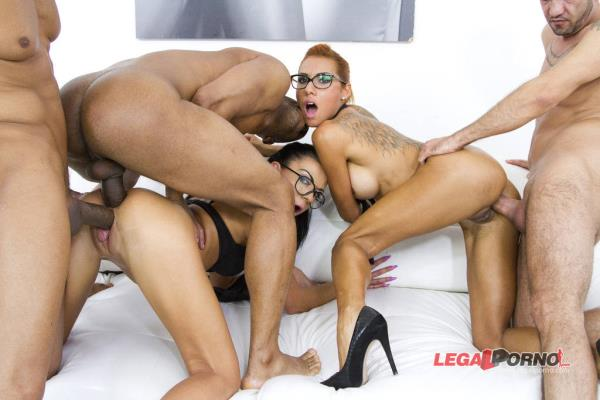 LegalPorno: Inga Devil, Rose Valerie - Horny sluts Inga Devil Rose Valerie anal  DP mini orgy with 3 guys SZ1071 (HD) - 2019
