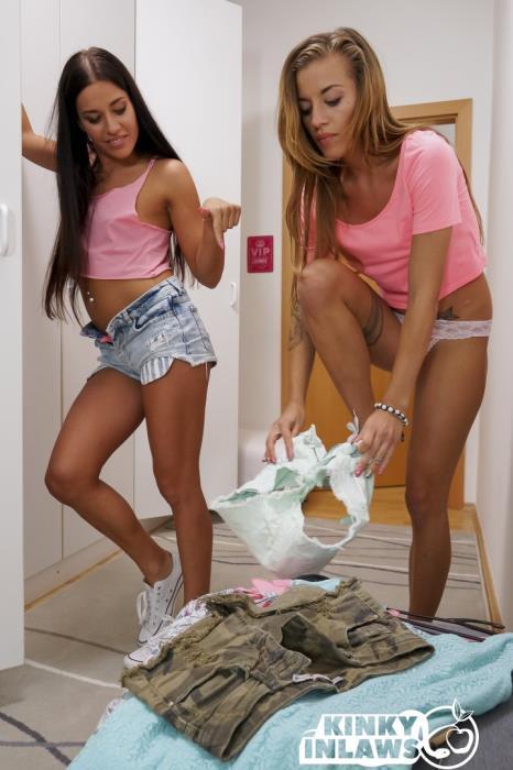 Silvia Dellai, Eveline Dellai - Naughty stepdaughters Silvia,Eveline Dellai get cum on tits in taboo fuck (2019) [HD/720p/MP4/499 MB] by Gerrard1892