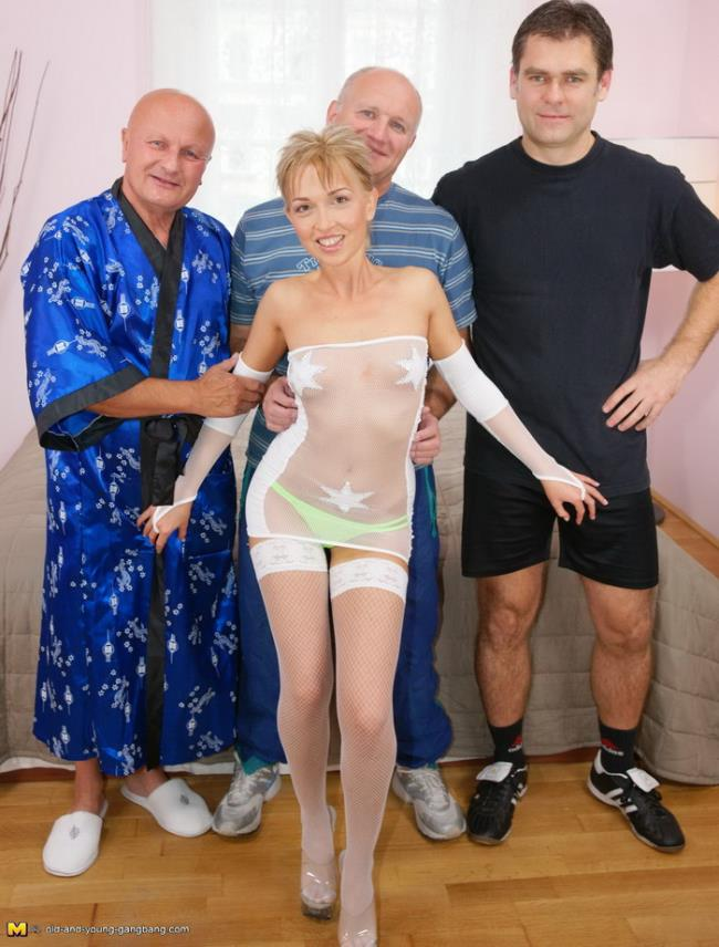 Margit - One Hot Fucking Teen Doing Three Old Guys...: HD 720p - 1.07 GB (Old-and-young-gangbang)