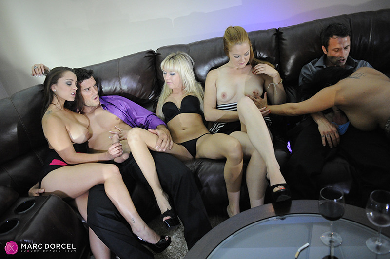 DorcelClub: (Liza Del Sierra, Asa Akira, Diana Doll, Raven Alexis, Marie McCray) - First orgy for my girlfriend - Orgy by Paul Thomas [FullHD / 695 MB]