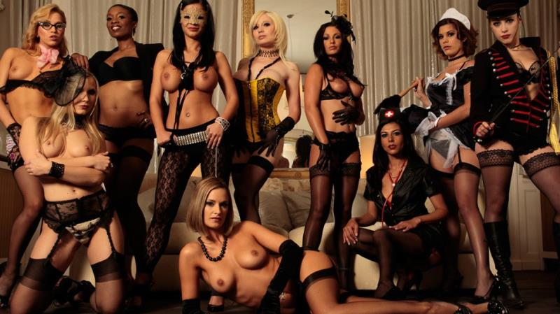 DorcelClub: Sabrina Sweet, Black Angelika, Lou Charmelle, Aleska Diamond Costumes, champagne, anal sex - The Orgy by Herve Bodilis [FullHD 1080p]