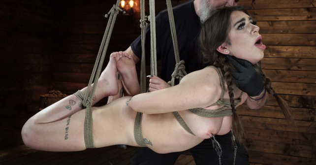 Joseline Kelly - Pain Slut Surrenders to Bondage and Domination (HD 720p) - HOGTIED - [2019]