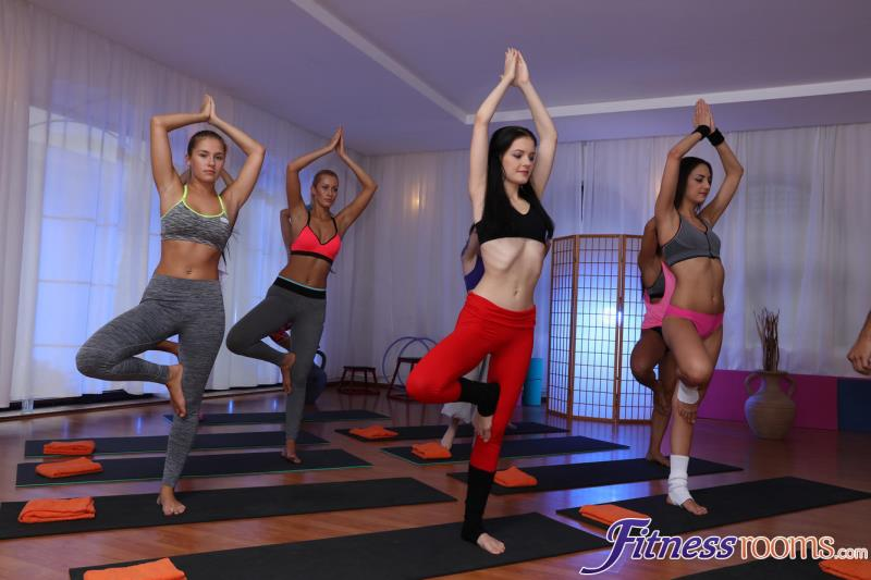 Alexis, Anie Darling, Anne Simone, Jo Grey, Kira, Sam Lee, Tina Diamond - Yoga teachers fuck naughty teen (FitnessRooms) FullHD 1080p