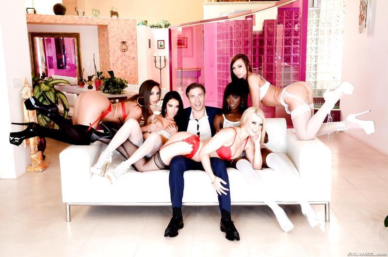 Megan Rain, Anikka Albrite, Abella Danger, Ana Foxxx, Aidra Fox, Mick Blue: Mick Blues Best Day Ever, Scene 3 (HD / 720p / 2019) [EvilAngel]