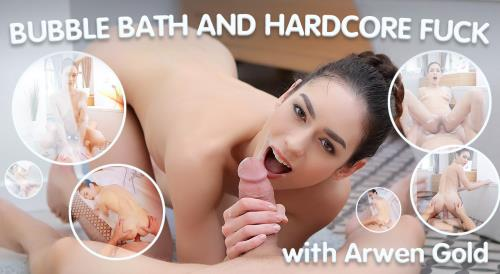 Arwen Gold - Wet Brunette Enjoys Bubble Bath and Hardcore Fuck (UltraHD/2K)