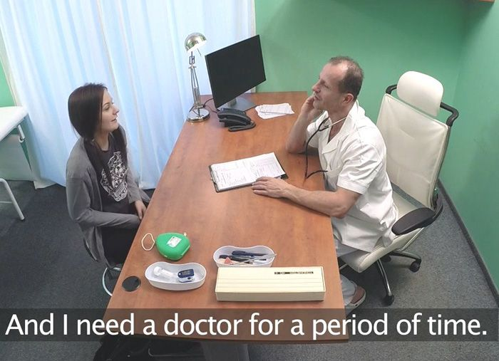 Anina Silk - Black Haired Student Wants Cock (HD 720p) - FakeHospital - [2019]