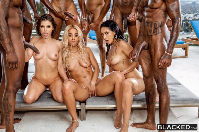 Adriana Chechik, Vicki Chase, Teanna Trump - BadBitches! ( 2019/Blacked.com/SD)