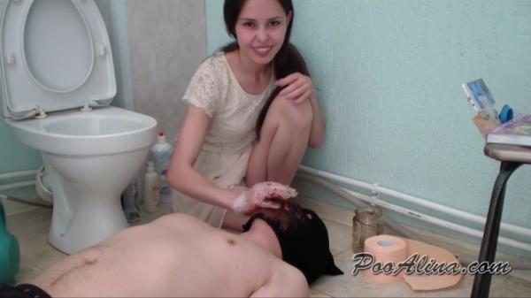 Toilet slave swallows Alina shit - Femdom Scat (FullHD 1080p)