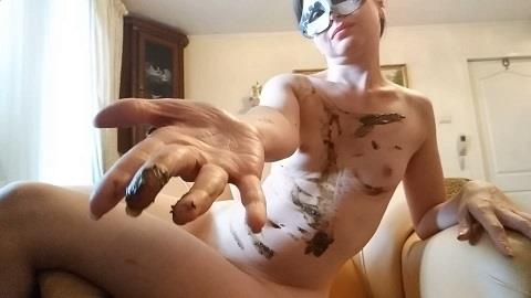 Nastygirl - Leather armchairs pooping and total smearing (FullHD 1080p)