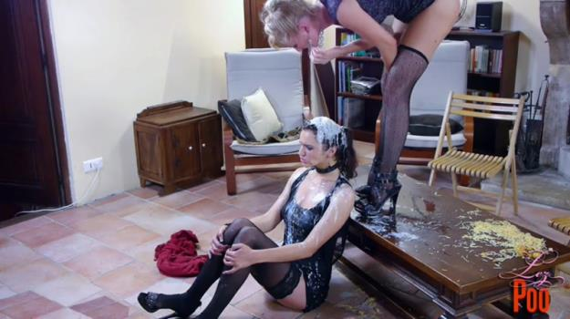 Vicky & Rafaella - Lesbian Piss, Puke and Shit Fest (SD 480p)
