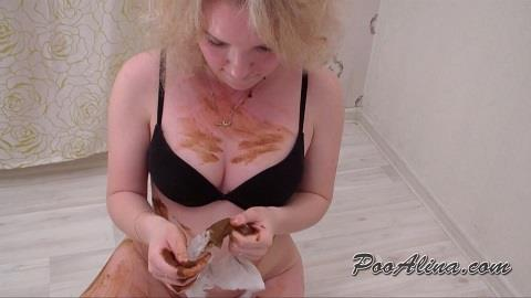 Milana - Pooping in panties and smeared the body with shit (FullHD 1080p)
