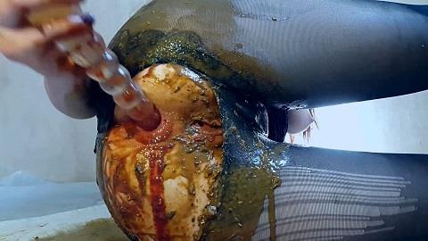AnnaCoprofield - Black Pantyhose Diarrhea Ass Spoiled (FullHD 1080p)